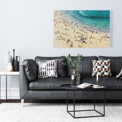 Canvas 24 x 36 - Summer crowd at the beach