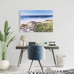Canvas 24 x 36 - Walk to the beach