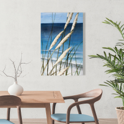 Canvas 24 x 36 - Wild herbs in the wind on at the beach