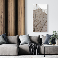 Canvas 24 x 48 - Translucent dried leaves