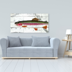 Canvas 24 x 48 - Trout on a world map
