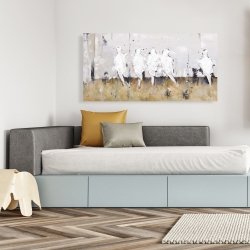 Canvas 24 x 48 - Eight perched birds