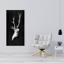 Canvas 24 x 48 - Deer skull in the dark