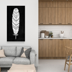 Canvas 24 x 48 - Feather with patterns