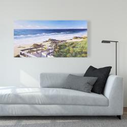 Canvas 24 x 48 - Walk to the beach