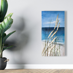 Canvas 24 x 48 - Wild herbs in the wind on at the beach