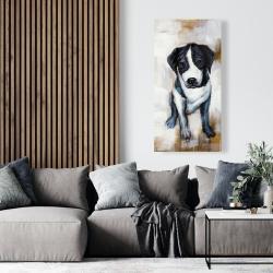 Canvas 24 x 48 - Sitting dog