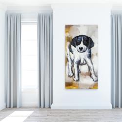 Canvas 24 x 48 - Curious puppy dog