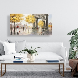 Canvas 24 x 48 - Arc de triomphe to paris
