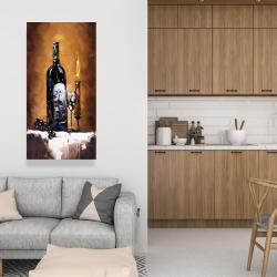 Canvas 24 x 48 - Candlelit wine