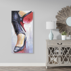 Canvas 24 x 48 - Crossed legs and high heels 2