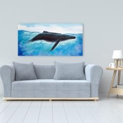 Canvas 24 x 48 - Blue whale