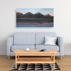 Canvas 24 x 48 - Mountains and calm lake