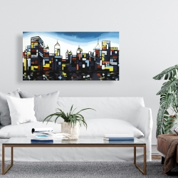 Canvas 24 x 48 - Colorful city