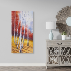 Canvas 24 x 48 - Fall landscape with birches