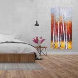 Canvas 24 x 48 - Fall forest landscape