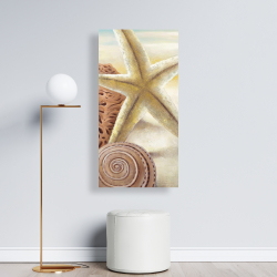 Canvas 24 x 48 - Starfish and seashells at the beach