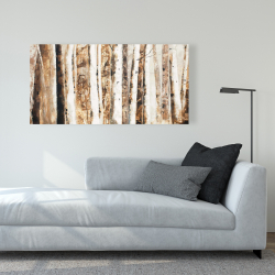 Canvas 24 x 48 - Trees of an asbtract forest