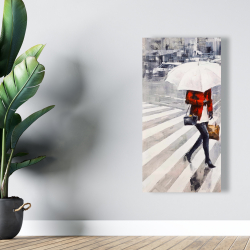 Canvas 24 x 48 - Woman walking with her umbrella