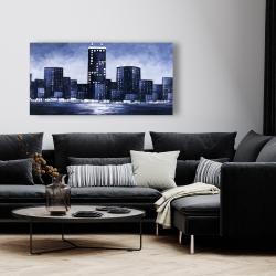 Canvas 24 x 48 - Dark blue cityscape