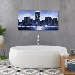 Canvas 24 x 48 - Marine blue city