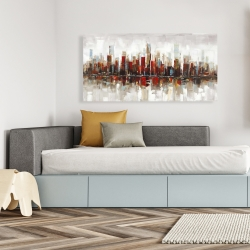 Canvas 24 x 48 - Abstract colorful skyscrapers