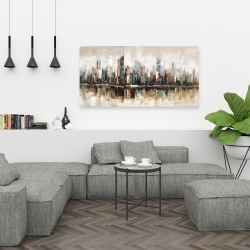 Canvas 24 x 48 - Abstract buildings with textures