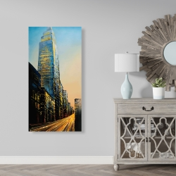 Canvas 24 x 48 - In the street of empire state building