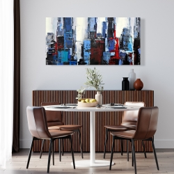 Canvas 24 x 48 - Abstract blue city