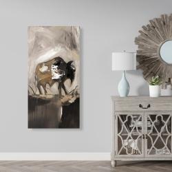 Canvas 24 x 48 - Abstract buffalo