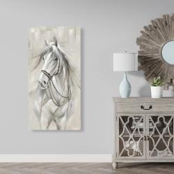 Canvas 24 x 48 - Worthy white horse