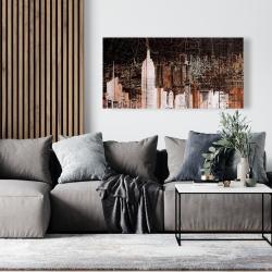 Canvas 24 x 48 - The empire city of newyork