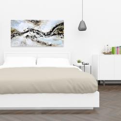 Toile 24 x 48 - éclats de peinture abstraite et texturées