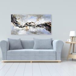Canvas 24 x 48 - Texturized abstract wave