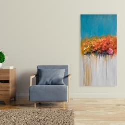 Canvas 24 x 48 - Orange flowers bundle