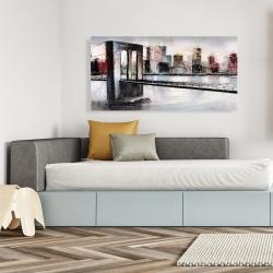 Canvas 24 x 48 - Abstract bridge cityscape
