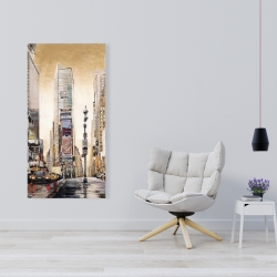 Canvas 24 x 48 - Times squaare with skyscrapers