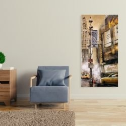 Canvas 24 x 48 - Big city street by a cloudy day