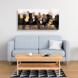 Canvas 24 x 48 - Earthy tones abstract cityscape