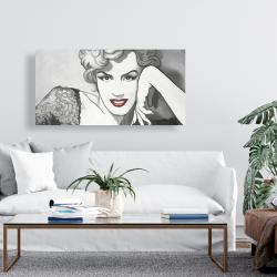 Canvas 24 x 48 - Vintage style marilyn monroe