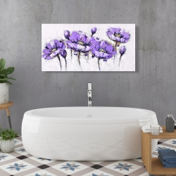Canvas 24 x 48 - Abstract purple flowers