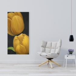 Canvas 24 x 48 - Two daffodils flowers
