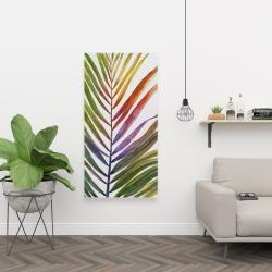 Canvas 24 x 48 - Watercolor tropical palm leave