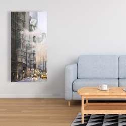 Canvas 24 x 48 - Morning in the streets of new-york city