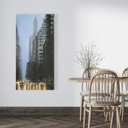 Canvas 24 x 48 - Evening in the streets of new-york city