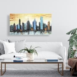 Canvas 24 x 48 - Skyline on cityscape