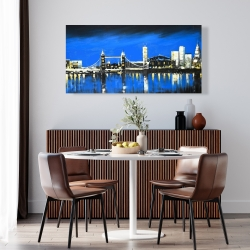 Canvas 24 x 48 - Blue skyline of london