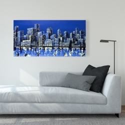 Canvas 24 x 48 - City in blue