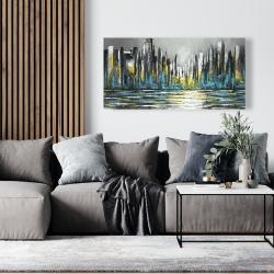Canvas 24 x 48 - Abstract blue skyline