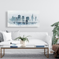 Canvas 24 x 48 - City in blue colors